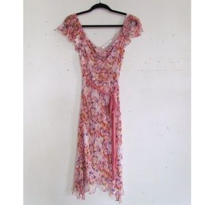 Diane Von Furstenburg Pink Floral Dress